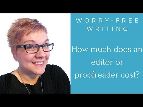 How much does an editor or proofreader cost?