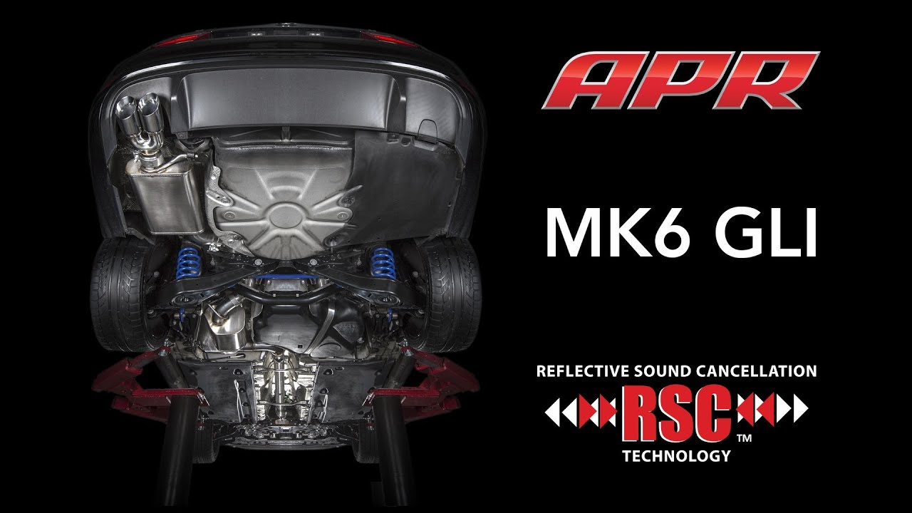 Mk6 Gli Exhaust >> Apr Mk6 Gli Rsc Exhaust System Youtube