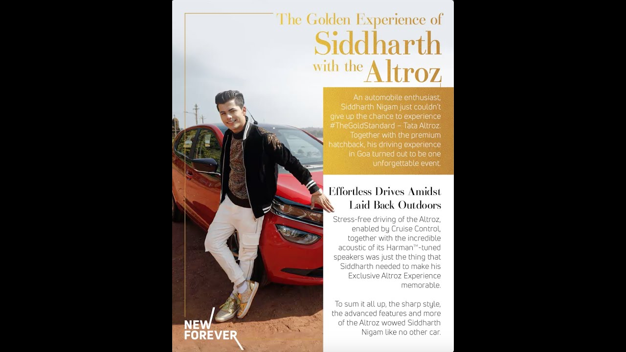 ALTROZ l The Golden Pages With Siddharth Nigam