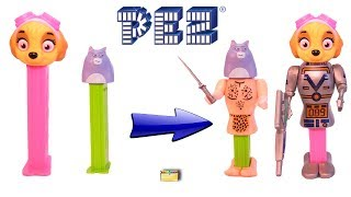 Pets PEZ CANDY DISPENSERS Paw Patrol Wrong Heads, Body Parts - Learning Colors Kids Video
