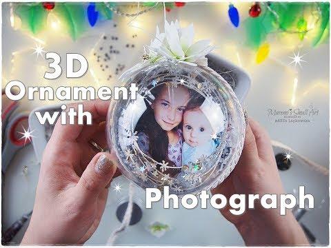 DIY 3D Keepsake Christmas Ornament with Photo Inside ♡ Maremi's Small Art ♡