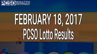 PCSO Lotto Results February 18, 2017 (6/55, 6/42, 6D, Swertres & EZ2)