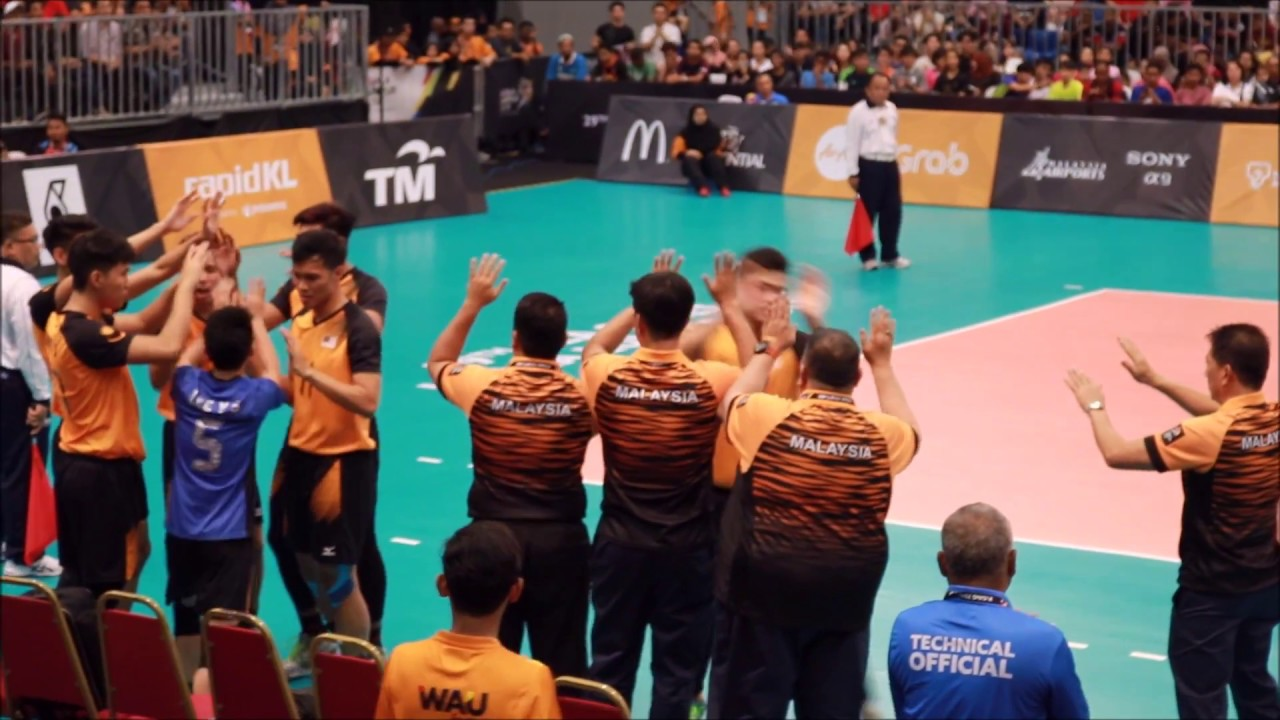 Malaysia vs Myanmar (part 1) II Men Volleyball II 29th SEA ...