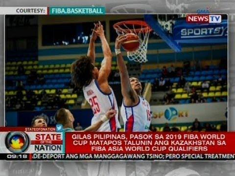 Gilas Pilipinas, pasok sa 2019 FIBA World Cup matapos talunin ang Kazakhstan sa FIBA Asia qualifiers