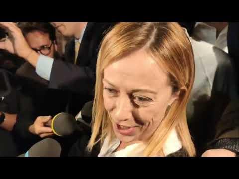 Giorgia Meloni in diretta: Abbiamo liberato l'Umbria, adesso liberiamo l'Italia!