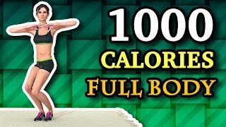 1000 Calorie Workout Cardio: Full Body Weight Loss And Toning
