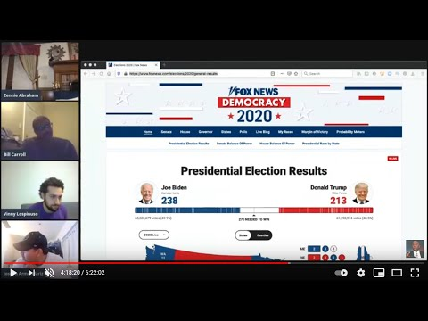 Biden vs Trump: Zennie62Media's 2020 Election Online Livestream Party And Voting Review
