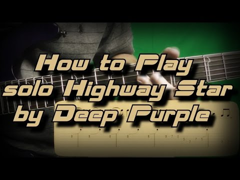 How To Play Solo Highway Star By Deep Purple Как играть, Guitar Lesson
