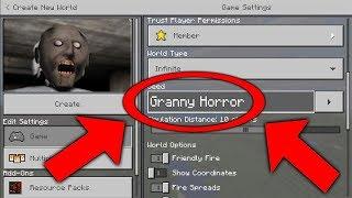 NEVER Play Minecraft GRANNY HORROR WORLD! (Haunted