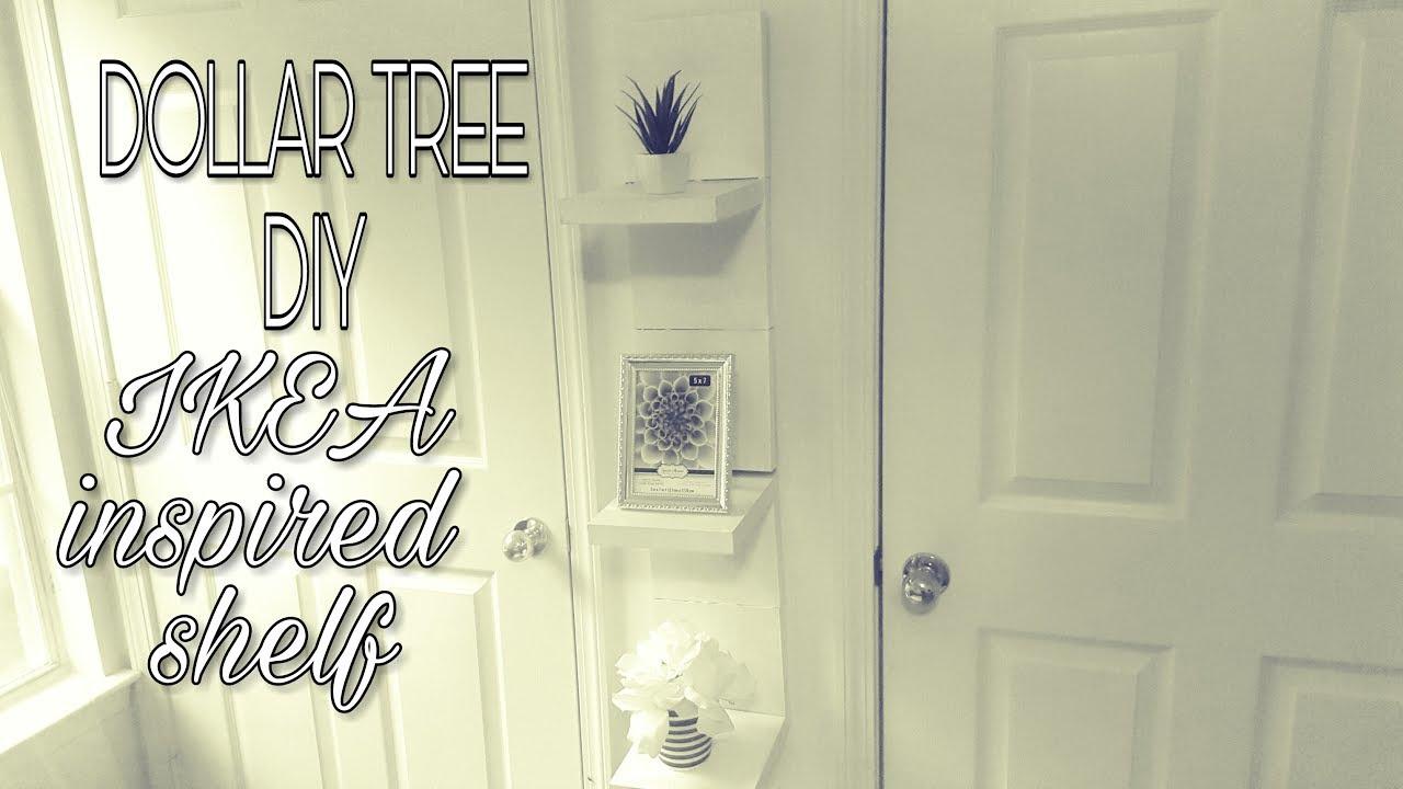 DOLLAR TREE DIY:IKEA INSPIRED SHELF - YouTube