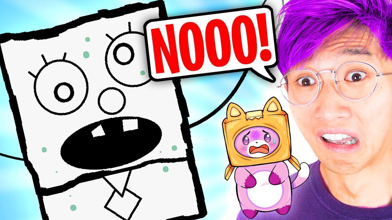 Can LANKYBOX Survive DOODLEBOB?! (HILARIOUS SPONGEBOB GAME!)