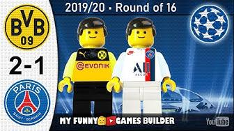 Borussia Dortmund vs PSG 2-1 • Champions League 18/02/2020 • All Goals Highlights LEGO Football
