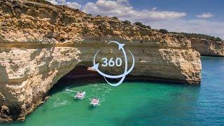 360º 4K Video - Fantástico Algar de Benagil - Secret Caves   Grutas de Benagil
