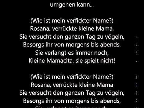 Download Wax - Rosana (Übersetzung)