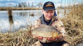КАРАСЬ на ПОПЛАВОК Рыбалка на дикаре Весна 2021