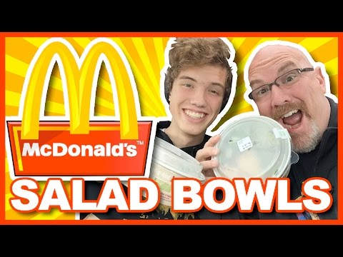 McDonald's Salad Bowls Caesar & Greek, Review with Ken & Ben Domik