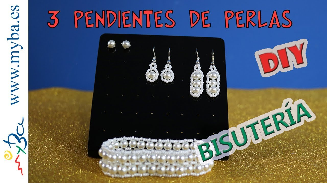 1872bb3994fe 3 Pendientes de perlas fáciles DIY. Modelos para diario