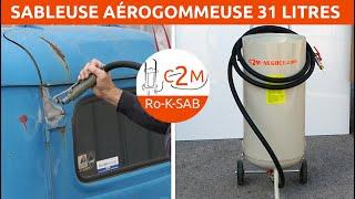 Présentation de la Sableuse aérogommeuse 31 litres c2m