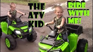 "Cool ""Little Lion"" Cruising The Block - 20 Minute 4 Wheeler Ride/ Kid on an ATV"