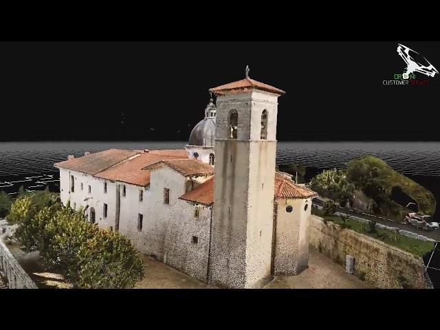 Animazione 3D Santuario della Madonna dell' Oriente ( Sfratati, Tagliacozzo )