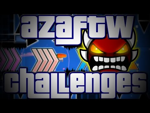 4X SPEED STRAIGHT FLY ~ Geometry Dash AzaFTW Challenges