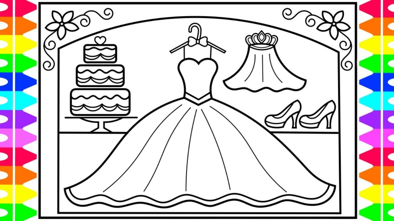 How To Draw A Wedding Dress For Kids Wedding Dress Drawing