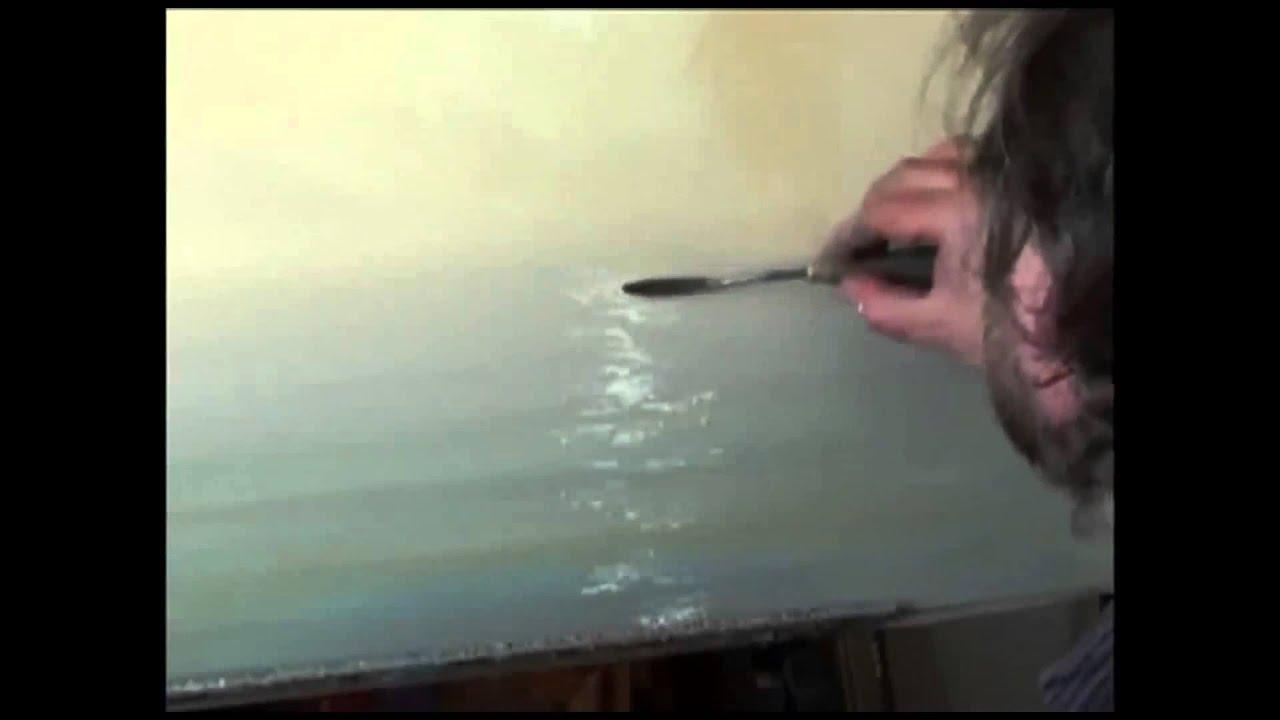 Боб росс учимся рисовать небо. Работа выполняется гуашью на ватмане формата а-3. , использованы нейлоновые кисти под номерами 2, 3,5.