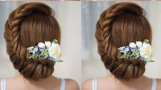 Quick And Easy Updo Hairstyles With Braid-Elegnat Updo Hairstyles