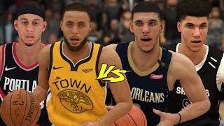Stephen & Seth Curry vs Lonzo & LaMelo Ball In A 2v2!   NBA 2K19