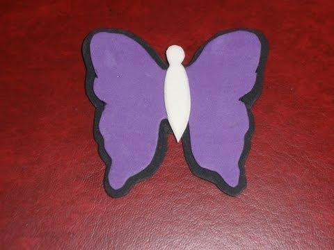 Tutorial mariposa goma eva, super fácil y rápido. diy, butterfly ...