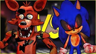 ФОКСИ FNAF VS СОНИК ЕХЕ | СУПЕР РЭП БИТВА | Foxy 5 Nights At Freddy's ПРОТИВ Sonic.Exe