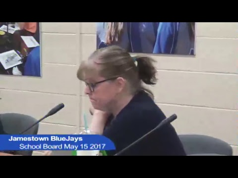 Jamestown Public Schools board meeting May 15, 2017