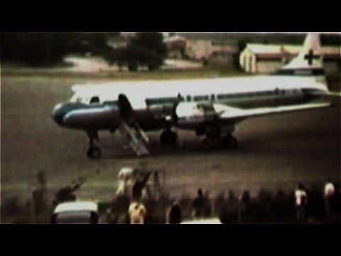 Turku Airport (EFTU), 1980, many Finnair, old mute film