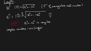 Complex Vector Spaces