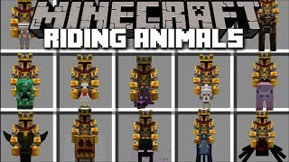 Minecraft RIDING ANIMALS MOD / RIDE ANY ANIMAL IN THE GAME YOU WANT !! Minecraft Mods