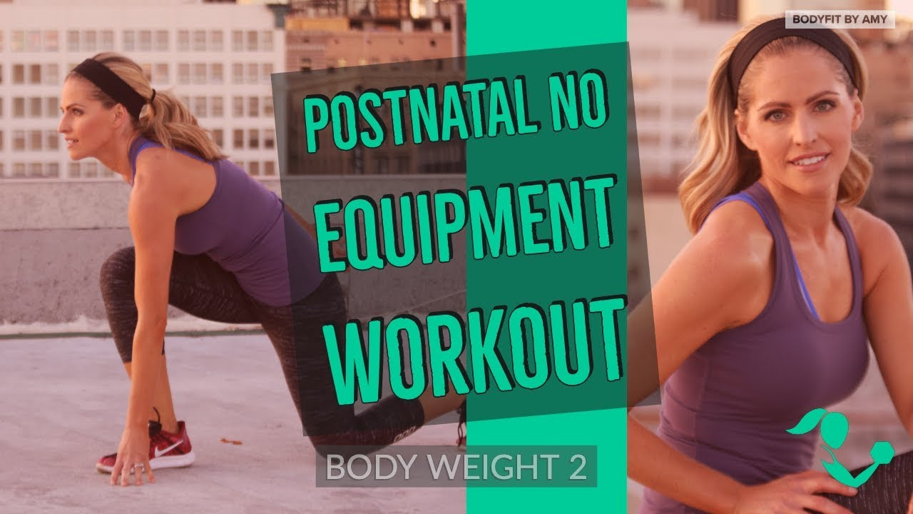 36 Minute Postnatal No Equipment Workout 2 Bodyweight Workout For After Pregnancy Youtube