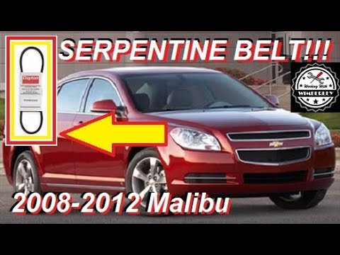 Serpentine Belt On 2008-2012 Chevy Malibu How To Install  Replace