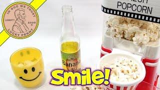 Movie Theater Popcorn Hot Air Popper With Banana Soda!