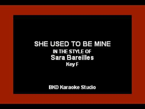She Used To Be Mine (In The Style of Sara Bareilles) (Karaoke with Lyrics)