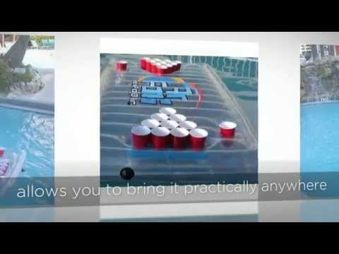 The Air Pong Table | Air Pong Inflatable Beer Pong Table, Floating Beer Pong