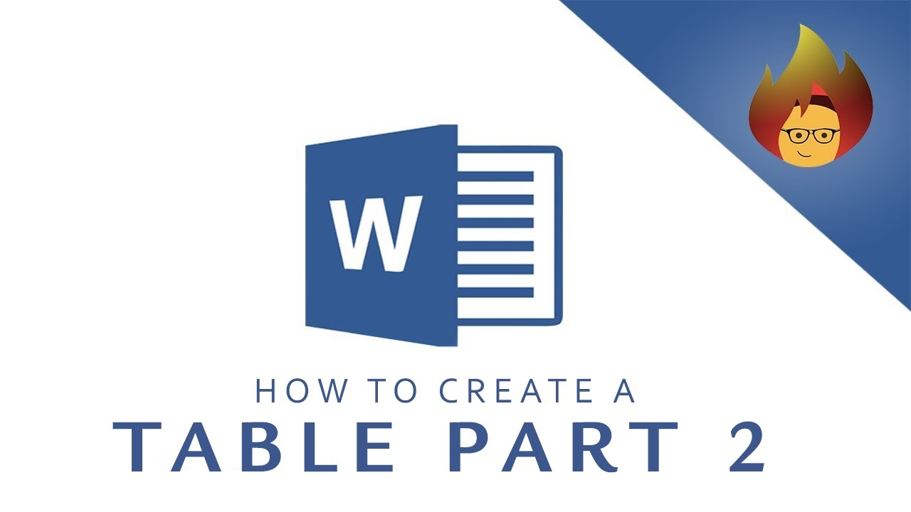 how to create a table in word 2016