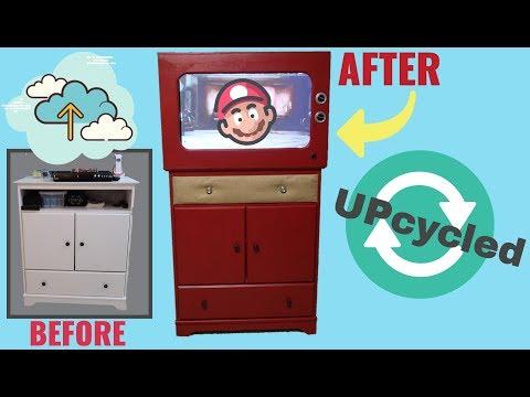 TV Stand DIY Retro Makeover