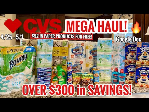 CVS Free & Cheap Coupon Deals & Haul | 4/25 – 5/1 | 100% FREE Paper Products! 🧻 | $300 SAVED🔥