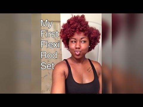 Flexi Rod Set on Short/Medium Natural hair