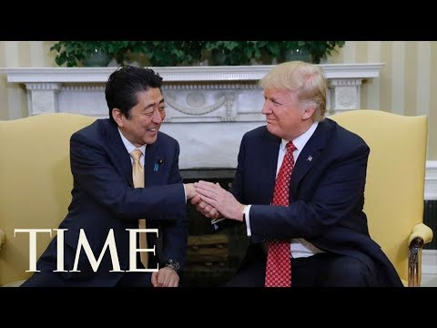 President Trump Hosts Joint Press Conference With The Prime Minister Of Japan | TIME