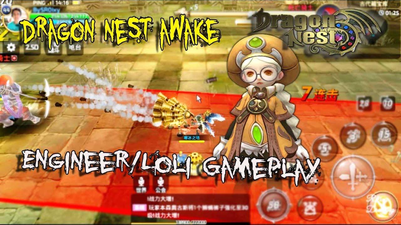 Loli Gameplay !!! Dragon Nest Awake (MOBILE) - Engineer Class Gameplay