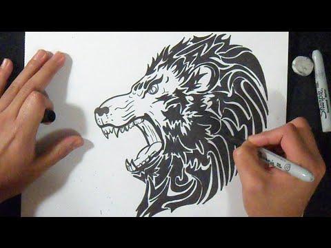 comment dessiner un lion graffiti youtube. Black Bedroom Furniture Sets. Home Design Ideas