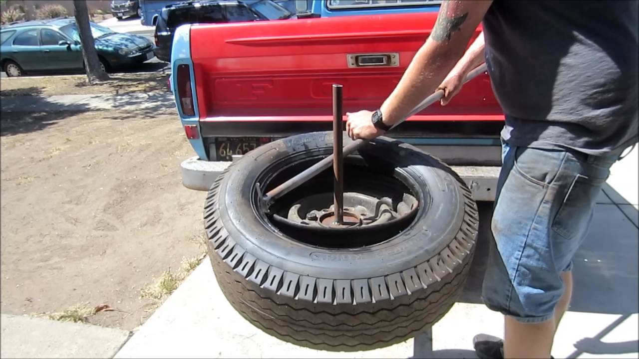 Home Made Hitch Mount Tire Changer Youtube