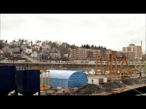Irving Shipbuilding Time Lapse