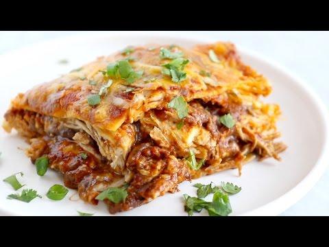 Chicken Enchilada Casserole Recipe Pinch Of Yum
